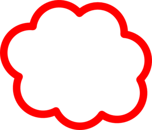 Cloud clip art at. Clouds clipart red