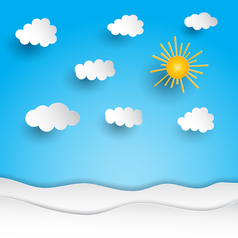 Paper landscape background with. Clouds clipart summer