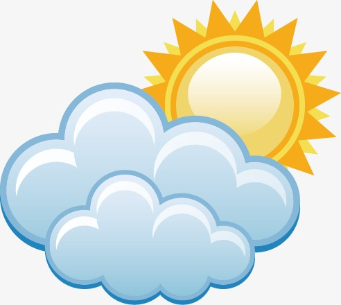 Partly the weather forecast. Cloudy clipart