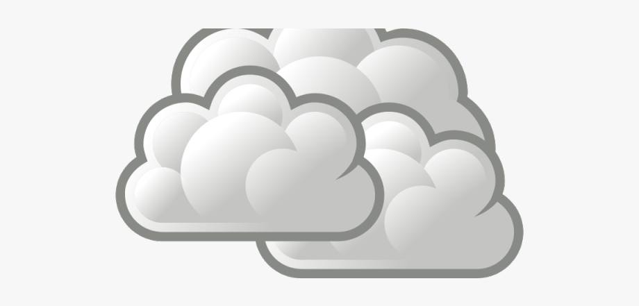 Foggy cliparts cloudy weather. Sunny clipart symbol