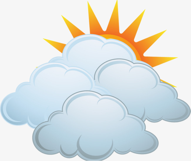 Cloudy clipart. Partly clouds are and