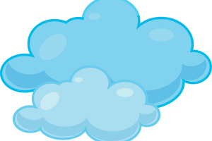Cloudy clipart. Black and white station
