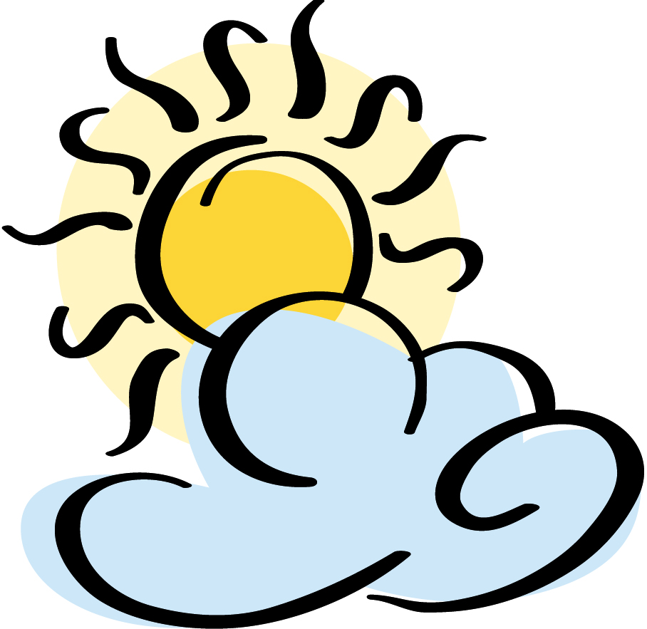 Sunny clipart cloudy.  partly clipartlook