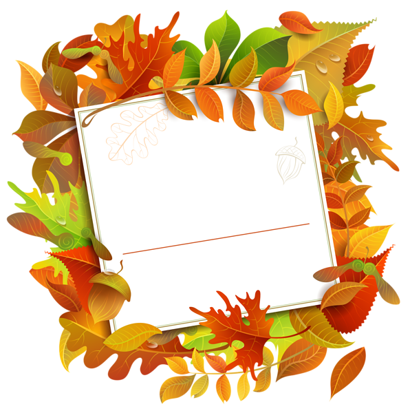 Fall decorative blank with. Paper clipart tablet