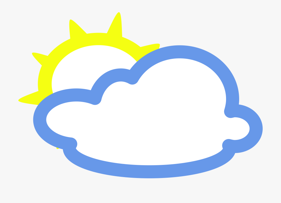 Clouding weather symbols cliparts. Cloudy clipart awan
