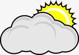 Icon feelings icons sun. Cloudy clipart cartoon
