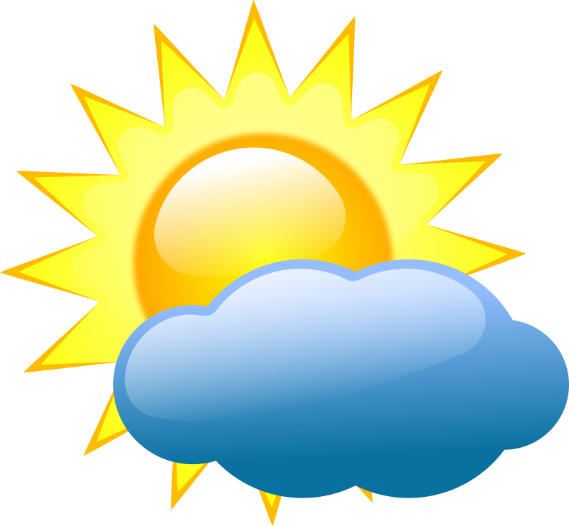Weather symbols medium image. Cloudy clipart cartoon