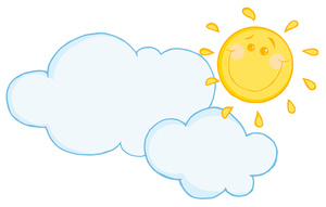 Partly image sun and. Cloudy clipart cartoon