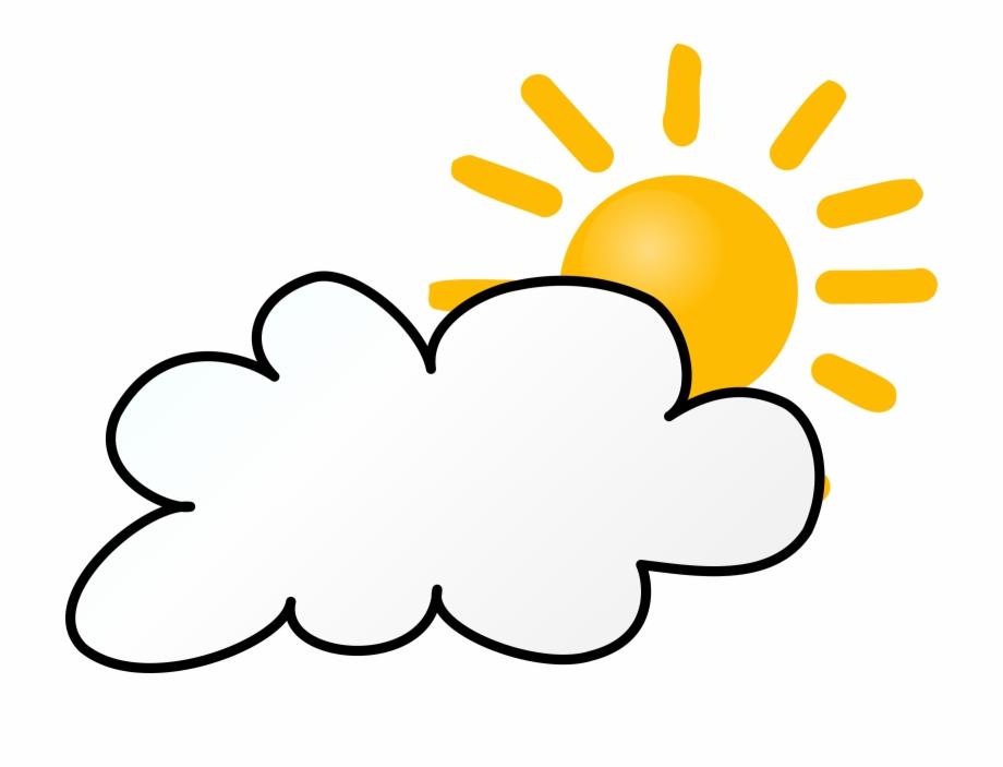 Cloudy clipart cartoon. Clip art sunny rainy