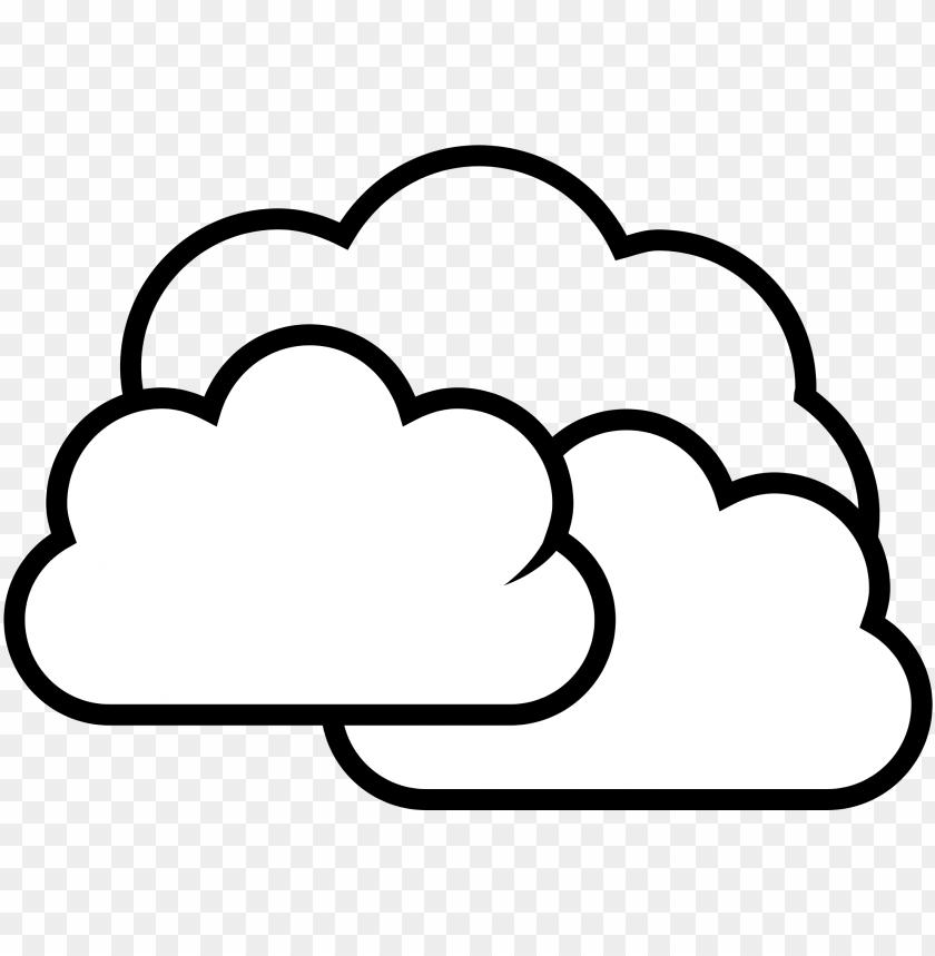 Drawn cloud png black. Cloudy clipart cartoon