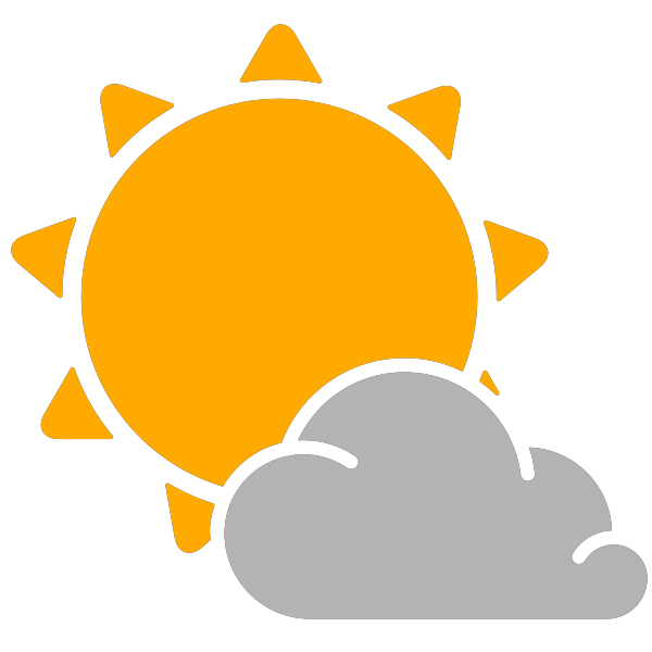 collection of mostly. Sunny clipart scene sunny