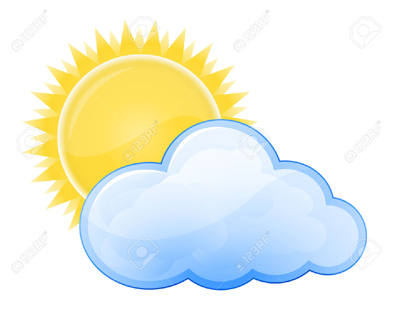 Sunny clipart partly. Clouds cloudy pencil and