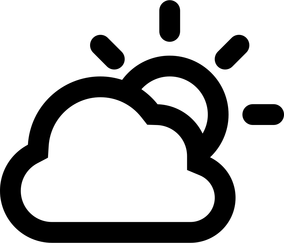 Cloudy clipart cloudy day. Outlined weather interface symbol