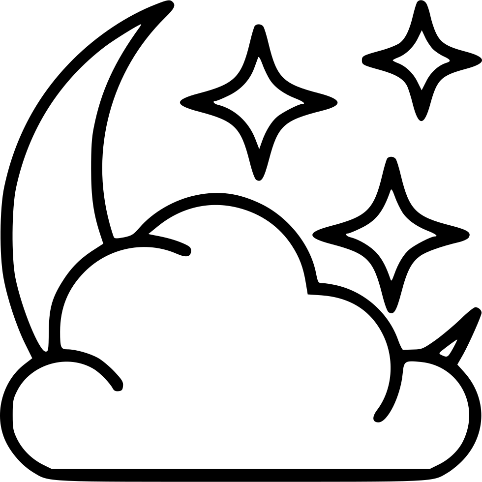 Star svg png icon. Cloudy clipart cloudy moon