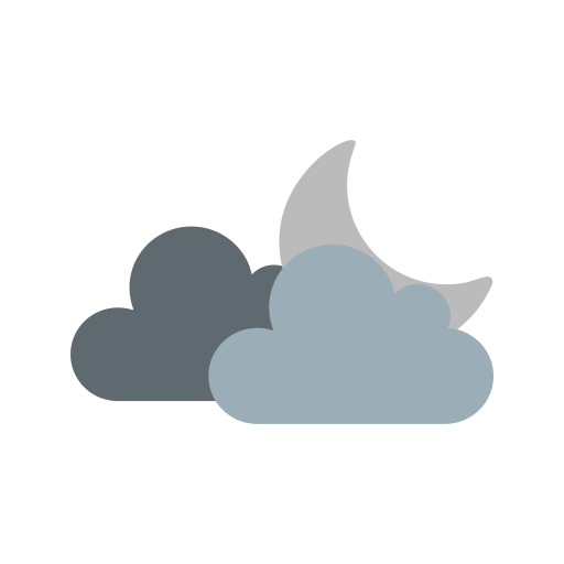 Cloud icon of flat. Cloudy clipart cloudy moon