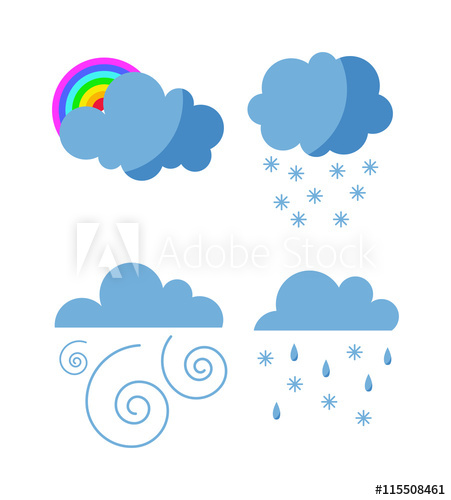 Mega pack of weather. Cloudy clipart cold cloud