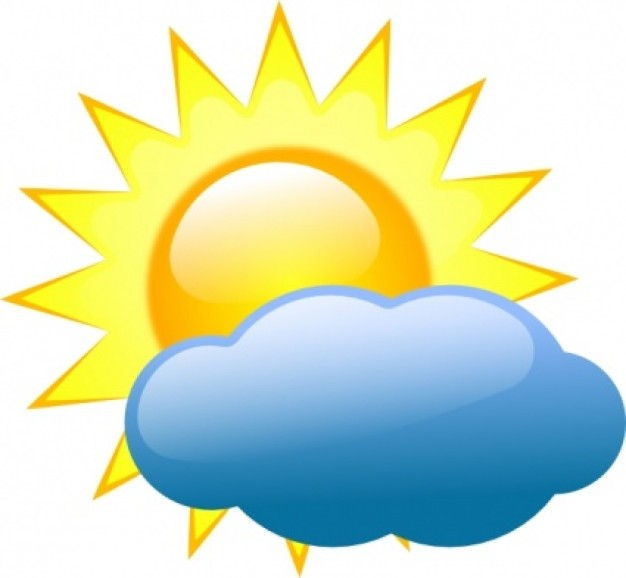 Free symbols sun with. Cloudy clipart fine weather