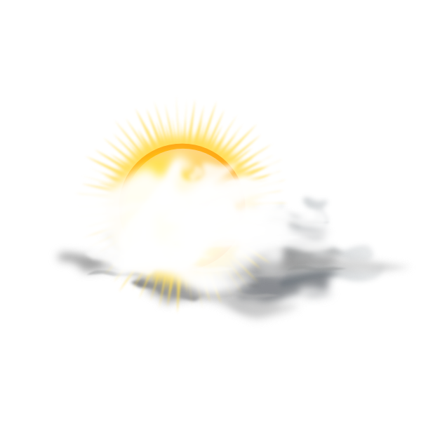 Sunny clipart cloudy. Partly weather icon clip