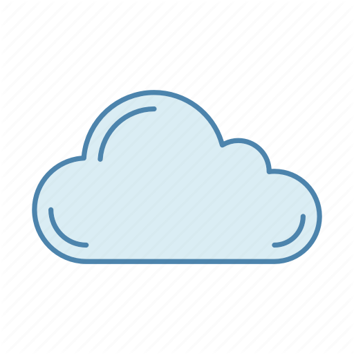 Cloudy clipart heavy cloud.  weather blue filled