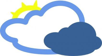 Icon symbol sun cartoon. Cloudy clipart heavy cloud