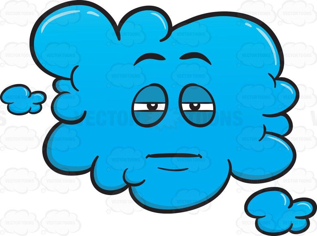 Sleepy and eyed emoji. Cloudy clipart heavy cloud