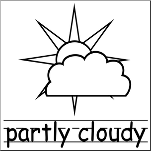 Cloudy clipart kind weather. Clip art icons partly