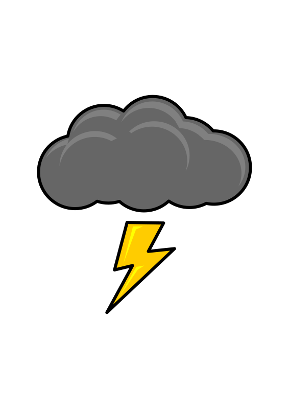 Medium image png . Lightning clipart thundercloud