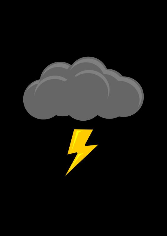 lightning clipart thundercloud