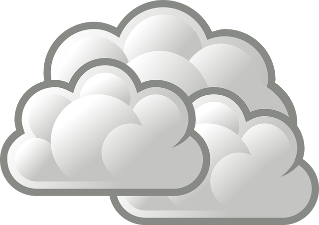 Picture clouds weather icon. Cloudy clipart long cloud
