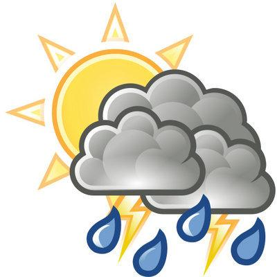 Cloudy clipart man in rain. Friday forecast mostly with