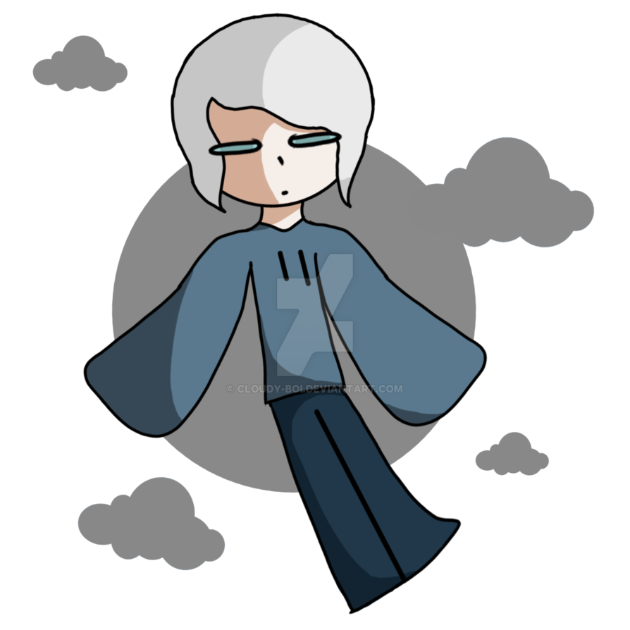 Cloudy clipart many cloud. Full body by boi