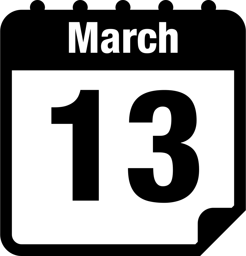 Schedule clipart calendar page. March svg png icon