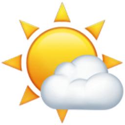 Sunny then rain on. Cloudy clipart mild weather