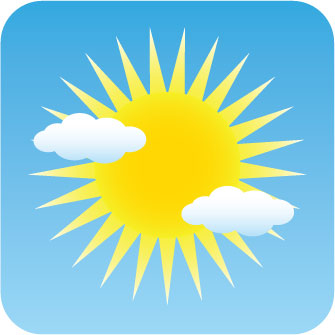 Cloudy clipart mild weather. Free sunny picture download