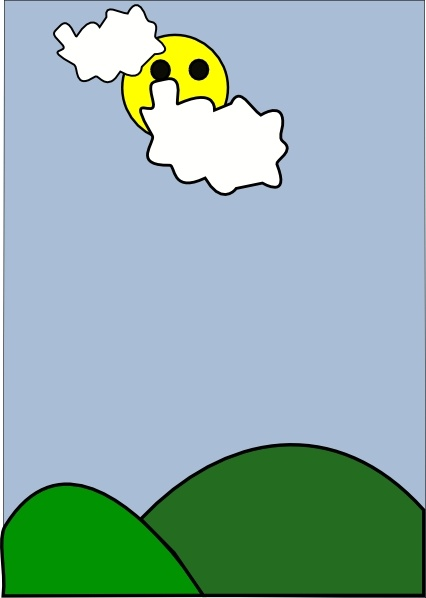 Clip art free vector. Cloudy clipart mild weather