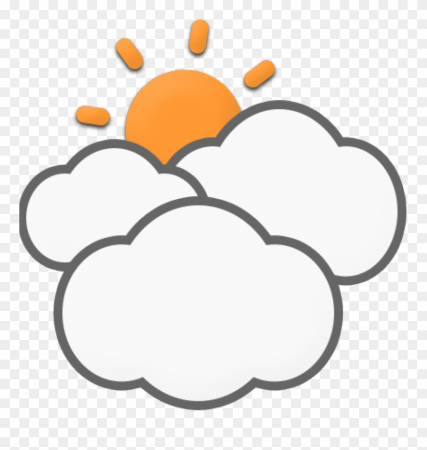 Cloud pinclipart . Cloudy clipart mostly