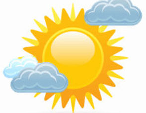 Sunny clipart mostly sunny. Free cliparts download clip