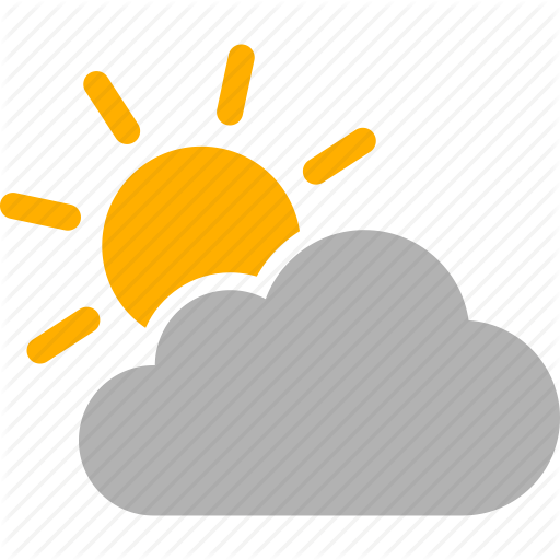 Cloudy clipart mostly. Icon free icons library