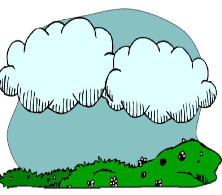 Cloudy clipart nuages. Quia le temps