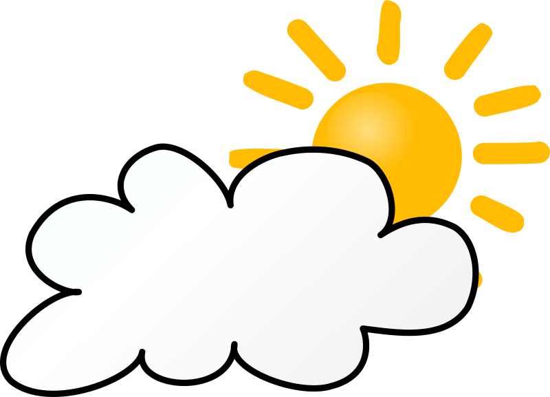 Cloudy clipart overcast. Weather symbols day medium