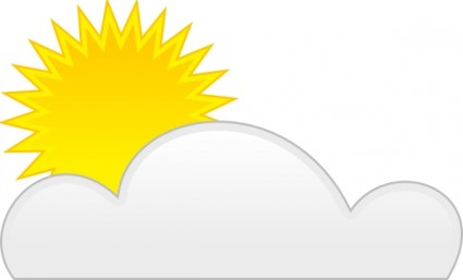 Sunny clipart partly. Free cloudy download clip