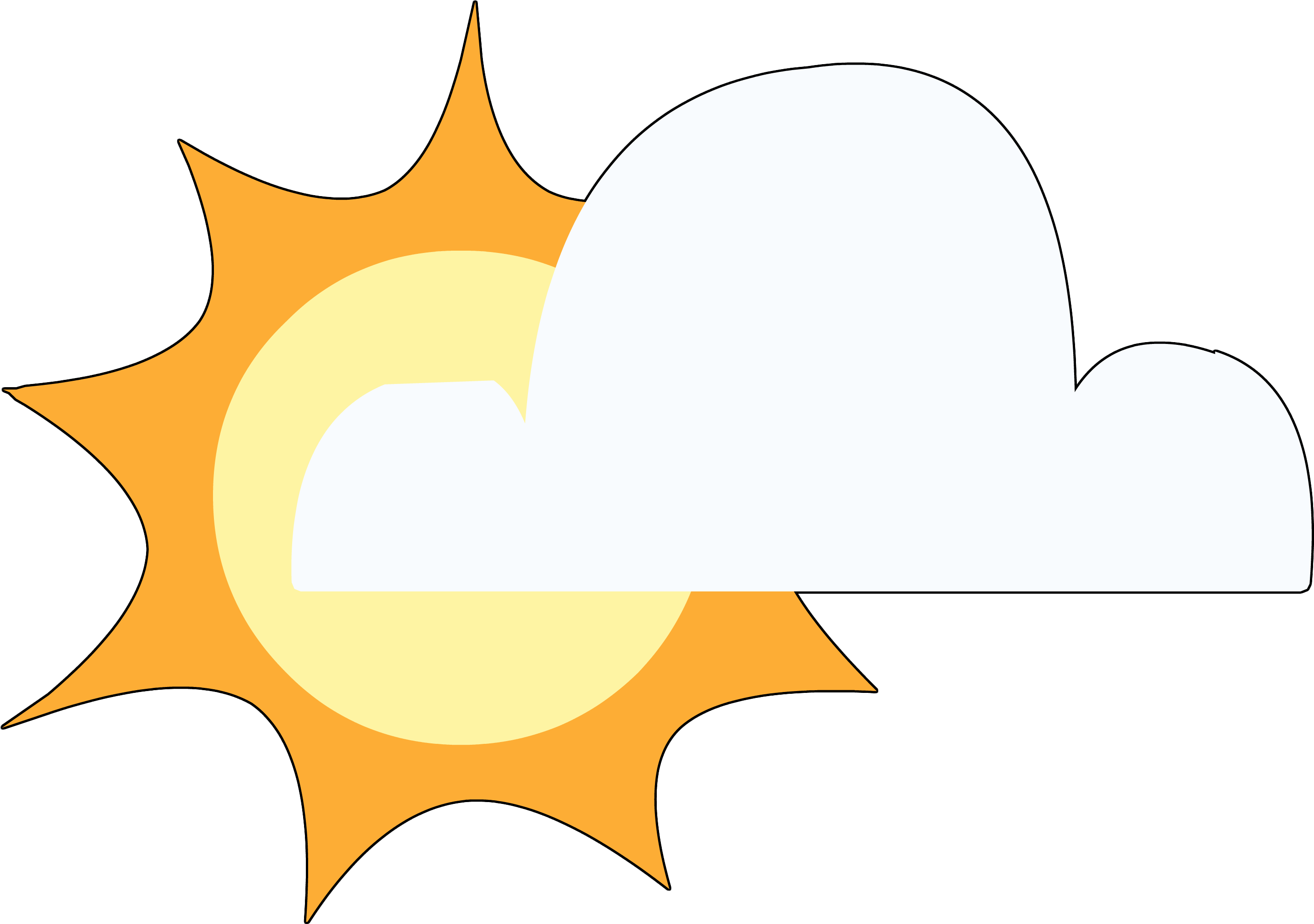 Cloudy clipart partly cloudy. Image ponymaker partlycloudy png
