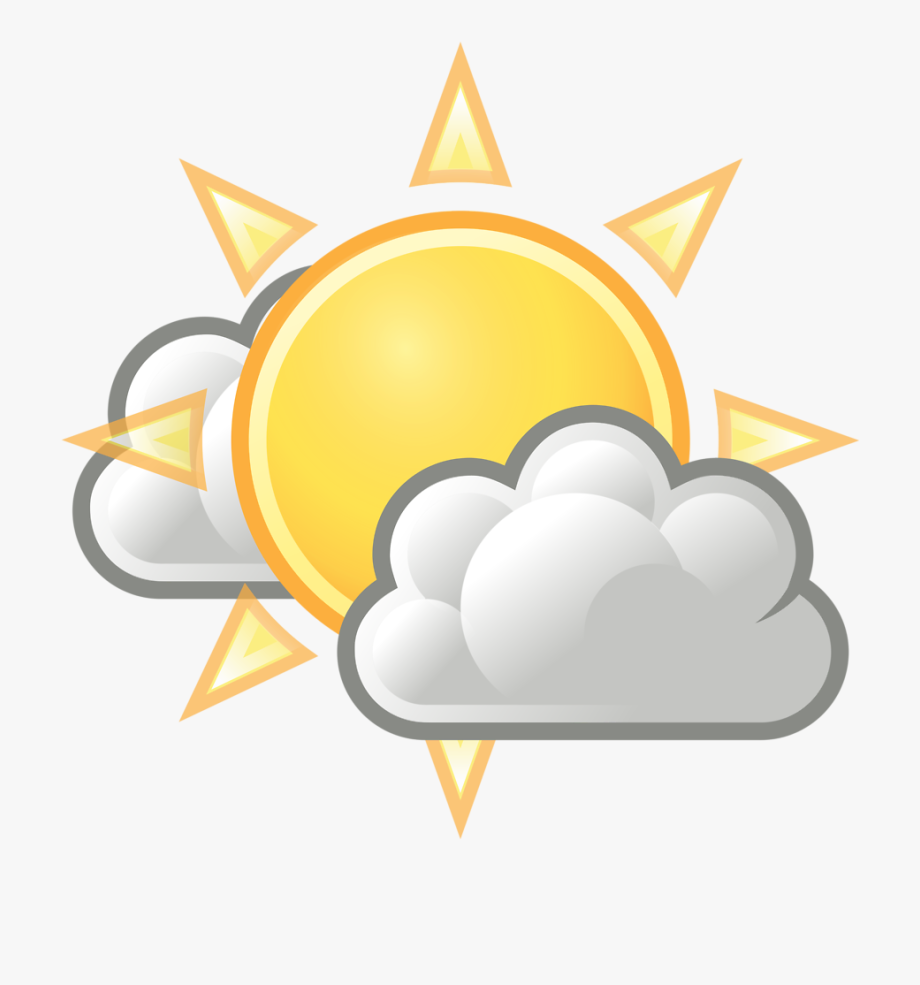 Cloudy clipart partly cloudy. Free stock photo png