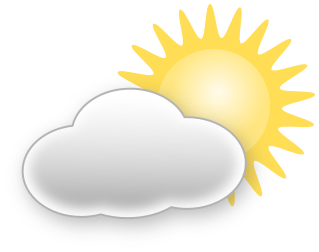 Weather icons cliparts clipartpost. Cloudy clipart partly cloudy