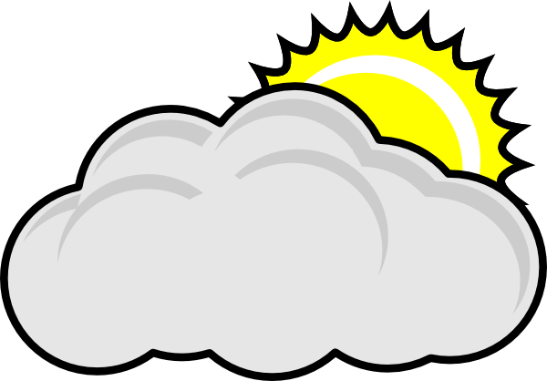 Partly wikiclipart . Cloudy clipart party