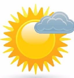 Tuesday forecast pleasant weather. Sunny clipart mostly sunny