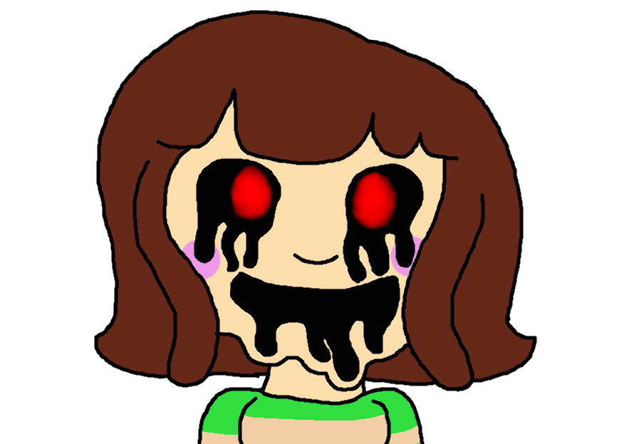 Cloudy clipart scary. Chara s face by
