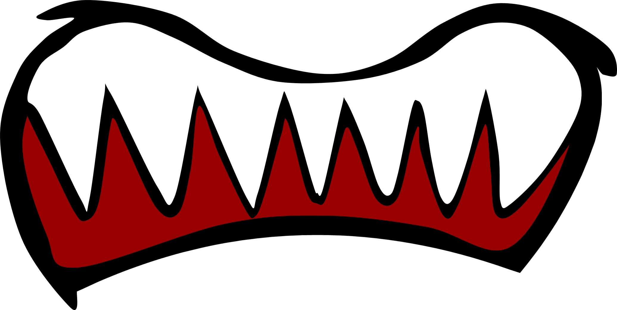 Image new scared mouth. Cloudy clipart scary