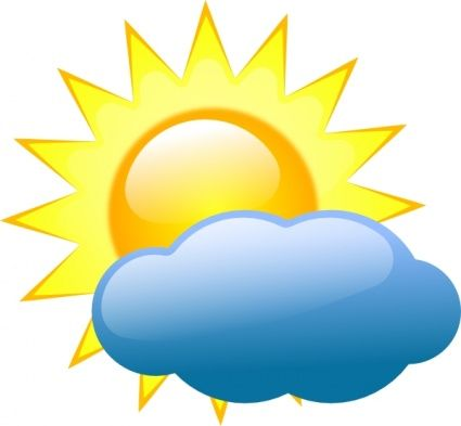 Cloudy clipart season. Partly best decorations weather