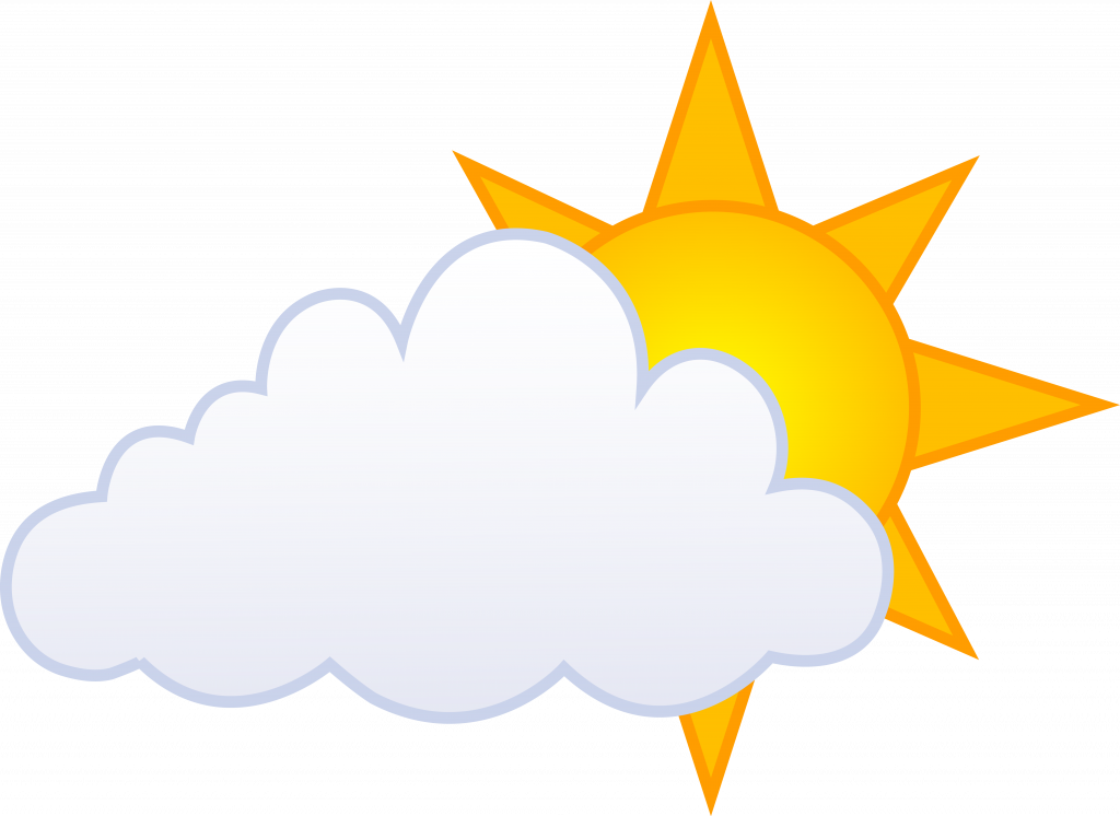 Free partly weather real. Cloudy clipart snow